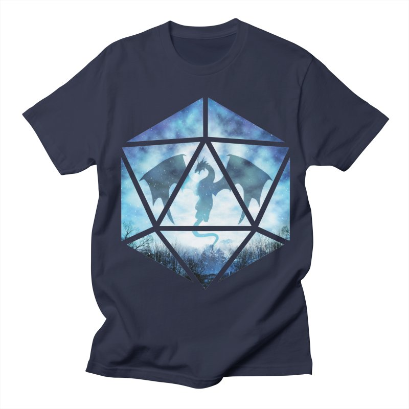 Blue Sky Ice Dragon D20 Men's Regular T-Shirt by maratusfunk's Shop