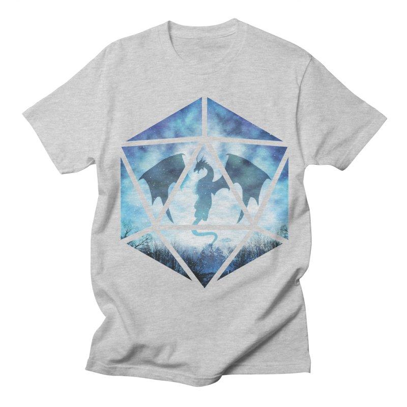 Blue Sky Ice Dragon D20 Women's Regular Unisex T-Shirt by maratusfunk's Shop