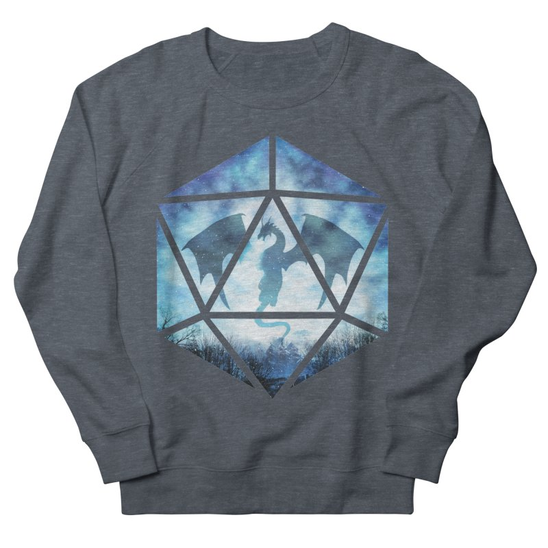 Blue Sky Ice Dragon D20 Women's Sweatshirt by maratusfunk's Shop