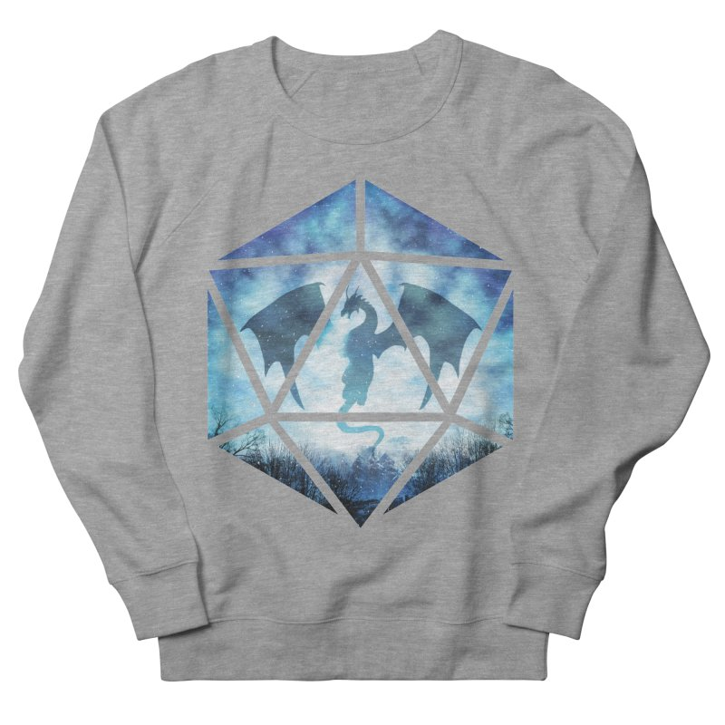 Blue Sky Ice Dragon D20 Women's French Terry Sweatshirt by maratusfunk's Shop