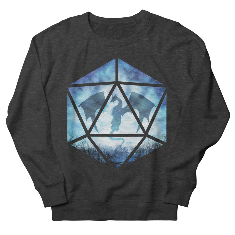 Blue Sky Ice Dragon D20 Men's French Terry Sweatshirt by maratusfunk's Shop