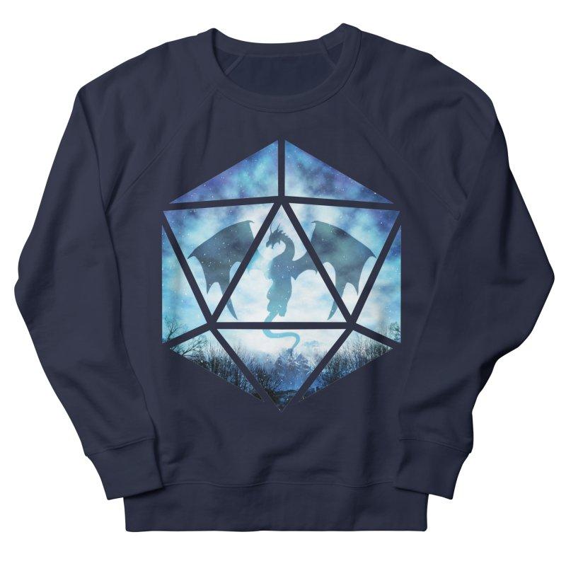 Blue Sky Ice Dragon D20 Men's Sweatshirt by maratusfunk's Shop