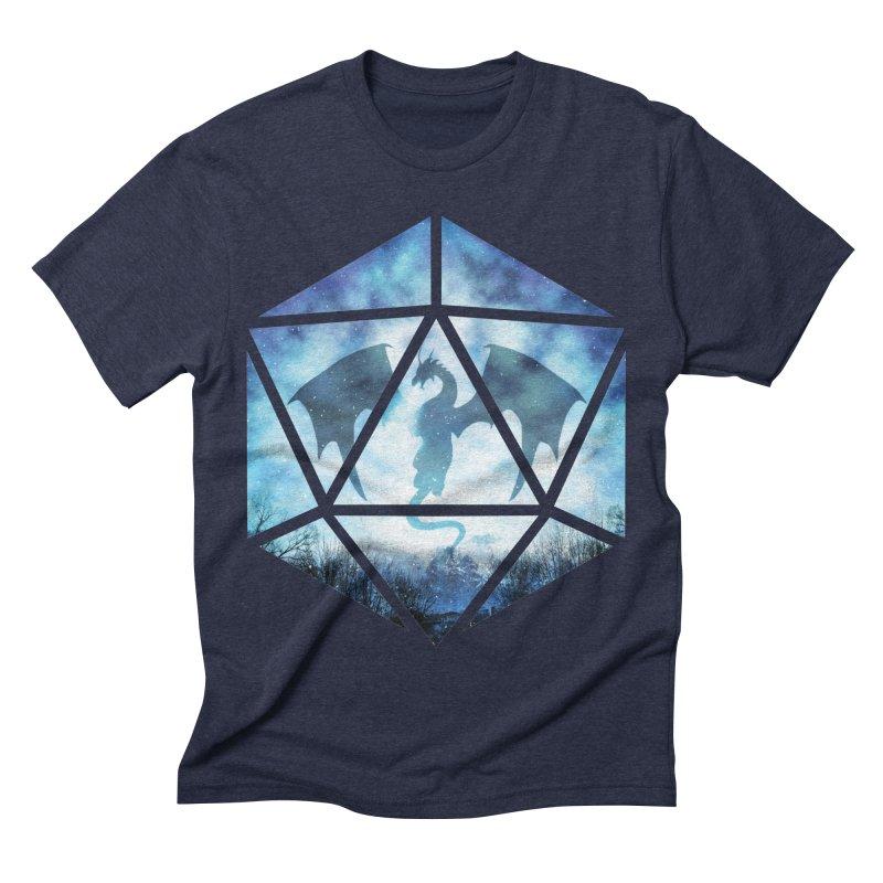 Blue Sky Ice Dragon D20 Men's Triblend T-Shirt by maratusfunk's Shop
