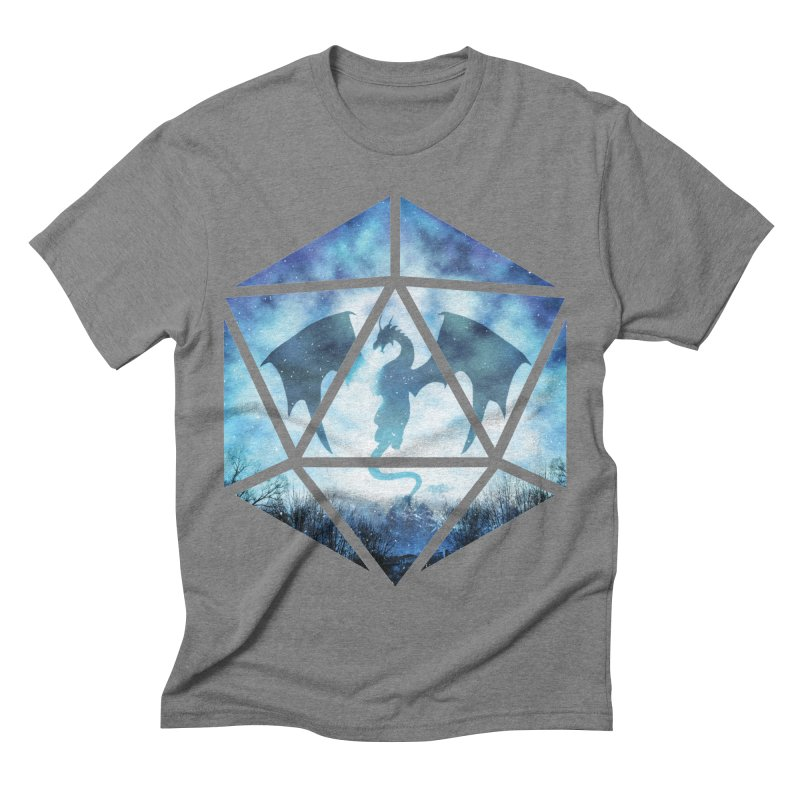 Blue Sky Ice Dragon D20 Men's Triblend T-Shirt by maratusfunk's Shop