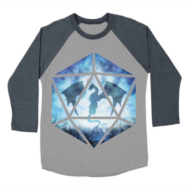 Blue Sky Ice Dragon D20 Women's Baseball Triblend Longsleeve T-Shirt by maratusfunk's Shop