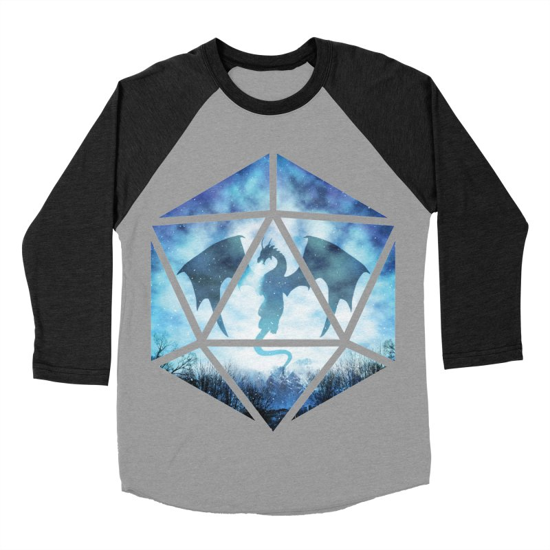 Blue Sky Ice Dragon D20 Men's Baseball Triblend Longsleeve T-Shirt by maratusfunk's Shop