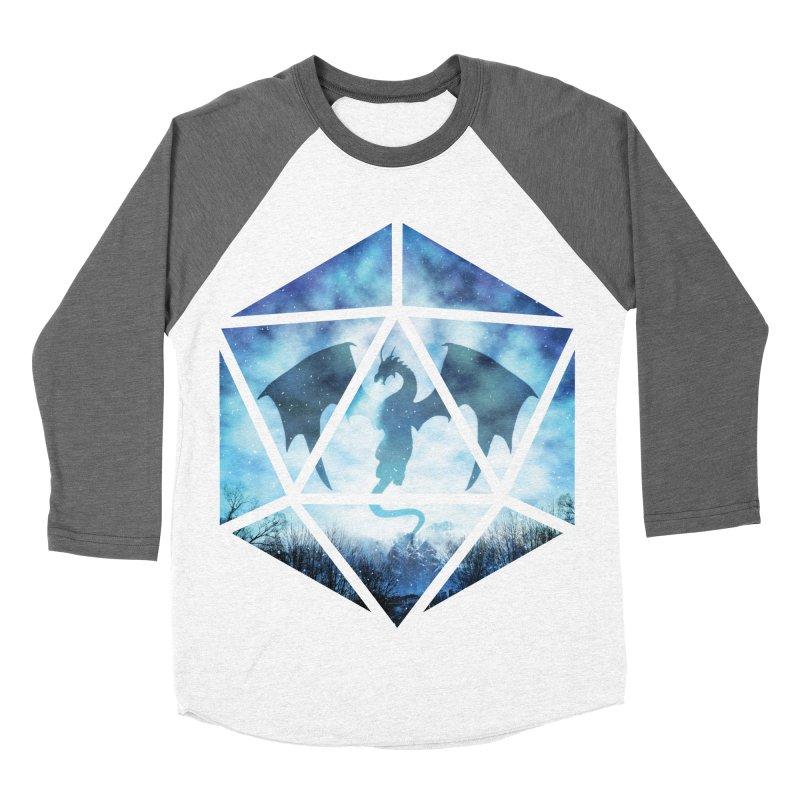 Blue Sky Ice Dragon D20 Men's Baseball Triblend Longsleeve T-Shirt by maratusfunk's Shop