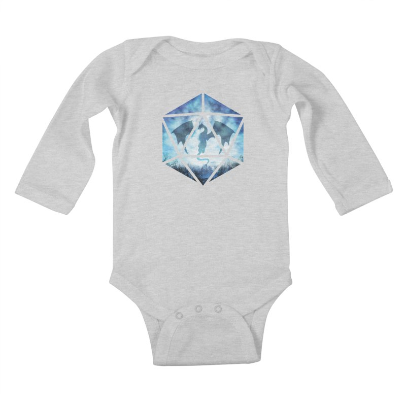 Blue Sky Ice Dragon D20 Kids Baby Longsleeve Bodysuit by maratusfunk's Shop