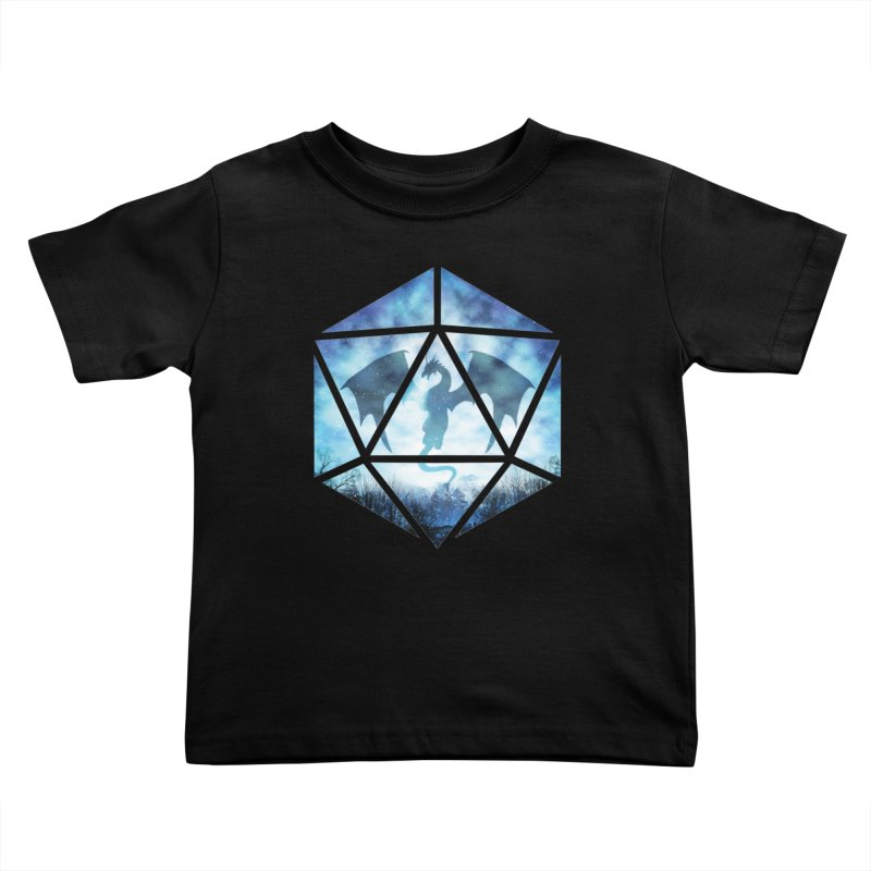 Blue Sky Ice Dragon D20 Kids Toddler T-Shirt by maratusfunk's Shop