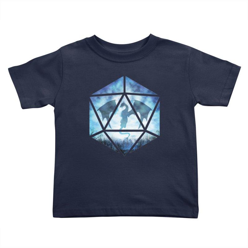 Blue Sky Ice Dragon D20 Kids Toddler T-Shirt by maratusfunk's Shop
