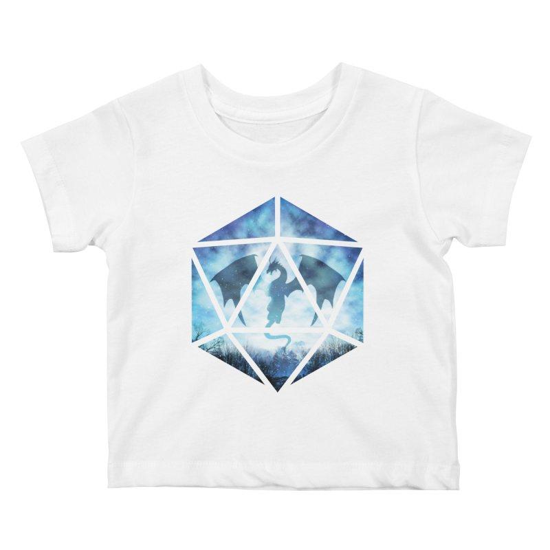 Blue Sky Ice Dragon D20 Kids Baby T-Shirt by maratusfunk's Shop