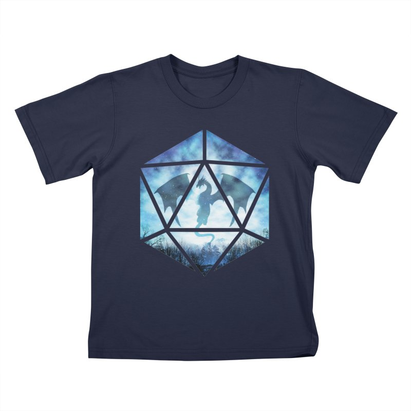 Blue Sky Ice Dragon D20 Kids T-Shirt by maratusfunk's Shop