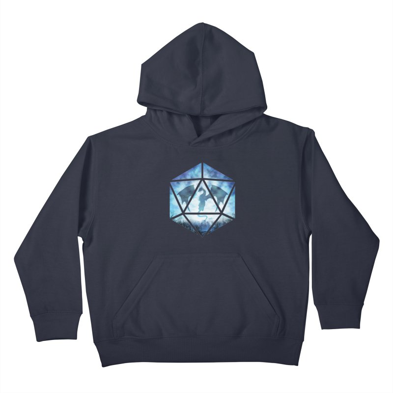 Blue Sky Ice Dragon D20 Kids Pullover Hoody by maratusfunk's Shop