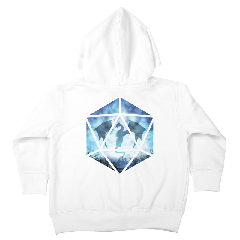 Blue Sky Ice Dragon D20 Kids Toddler Zip-Up Hoody by maratusfunk's Shop