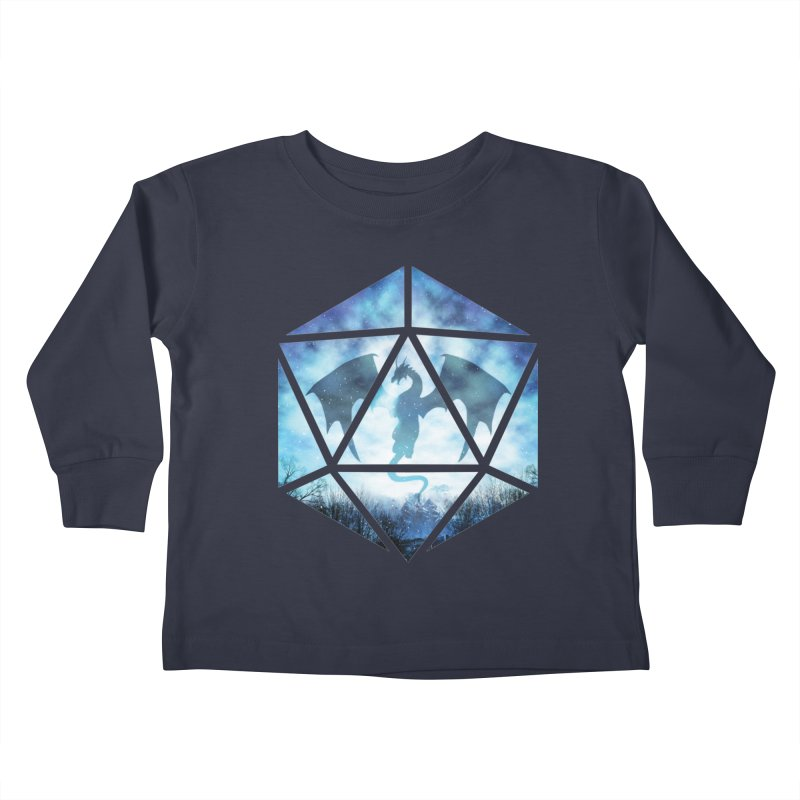 Blue Sky Ice Dragon D20 Kids Toddler Longsleeve T-Shirt by maratusfunk's Shop
