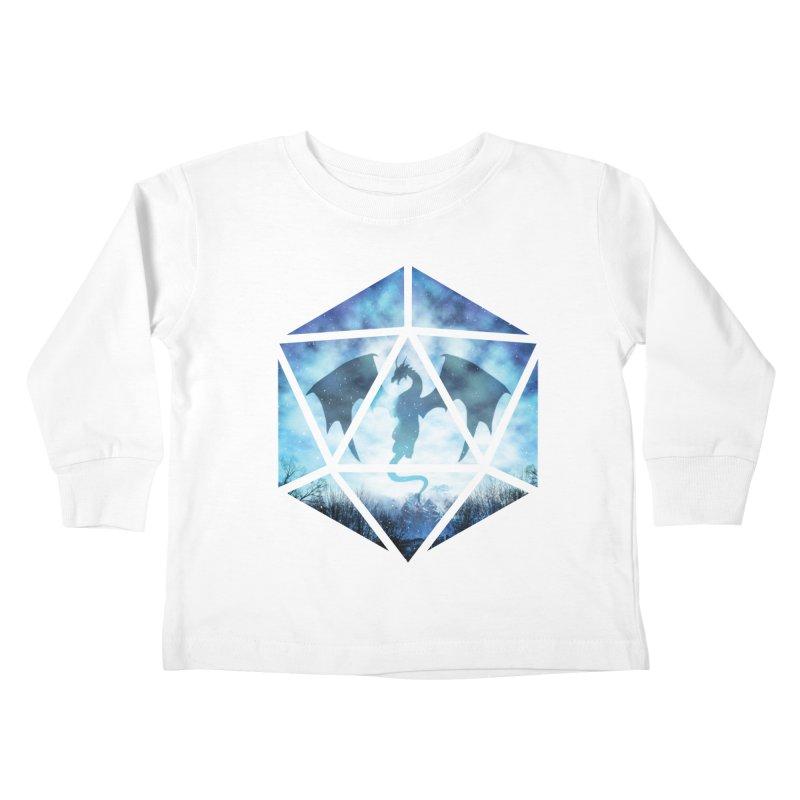 Blue Sky Ice Dragon D20 Kids Toddler Longsleeve T-Shirt by maratusfunk's Shop