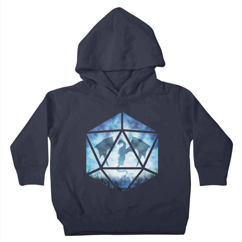 Blue Sky Ice Dragon D20 Kids Toddler Pullover Hoody by maratusfunk's Shop