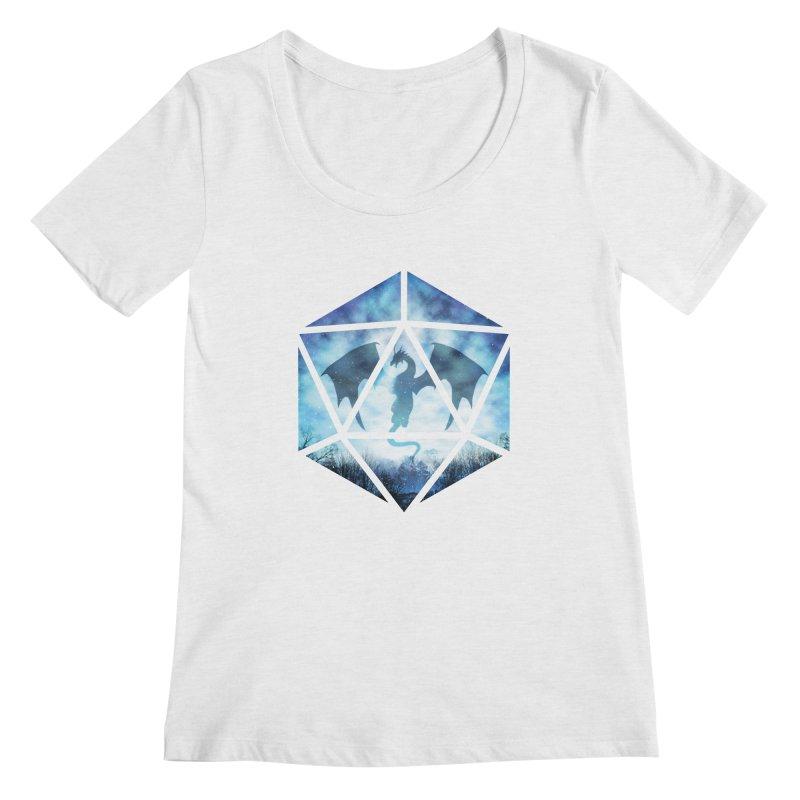 Blue Sky Ice Dragon D20 Women's Regular Scoop Neck by maratusfunk's Shop