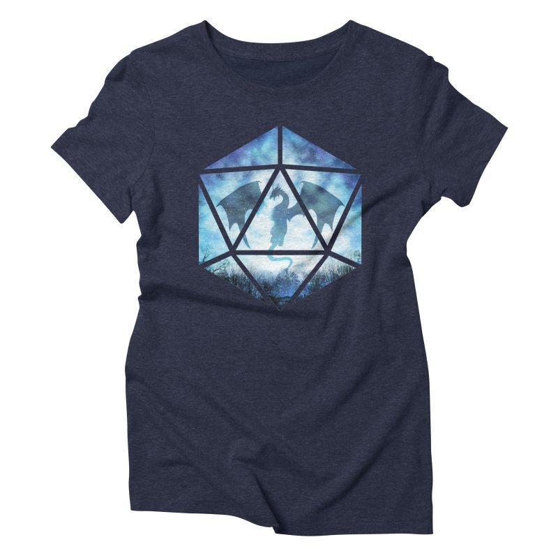Blue Sky Ice Dragon D20 Women's Triblend T-Shirt by maratusfunk's Shop