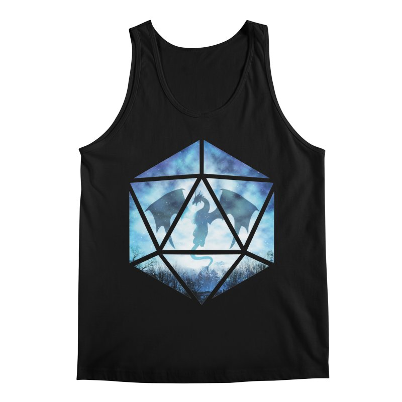 Blue Sky Ice Dragon D20 Men's Regular Tank by maratusfunk's Shop