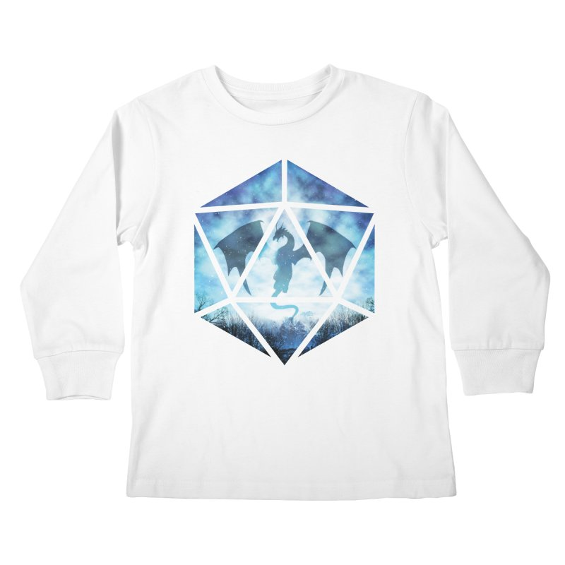 Blue Sky Ice Dragon D20 Kids Longsleeve T-Shirt by maratusfunk's Shop