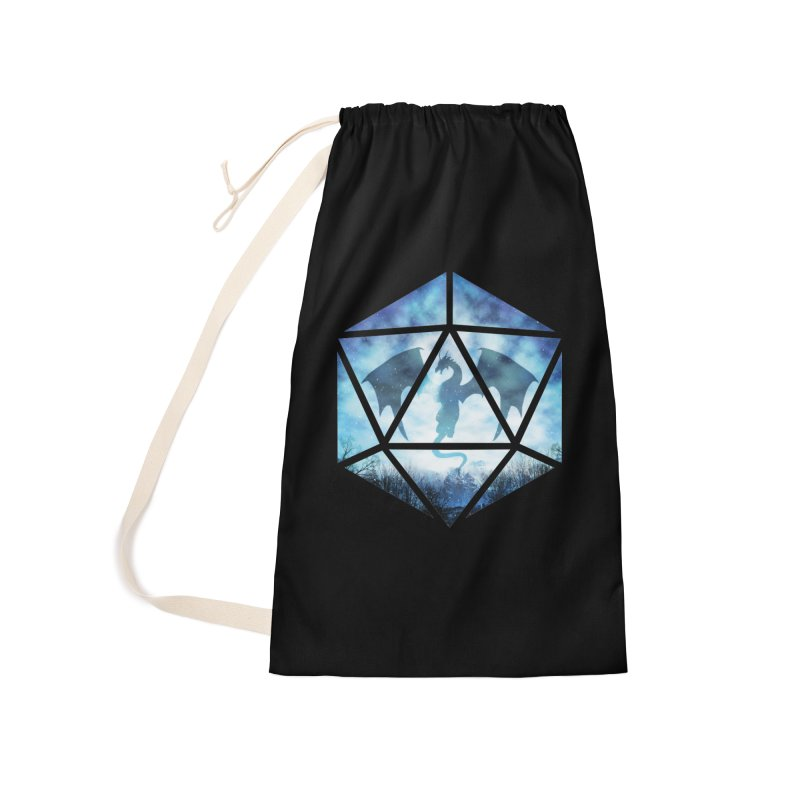 Blue Sky Ice Dragon D20 Accessories Laundry Bag Bag by maratusfunk's Shop