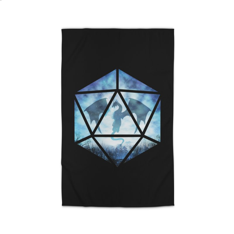 Blue Sky Ice Dragon D20 Home Rug by maratusfunk's Shop