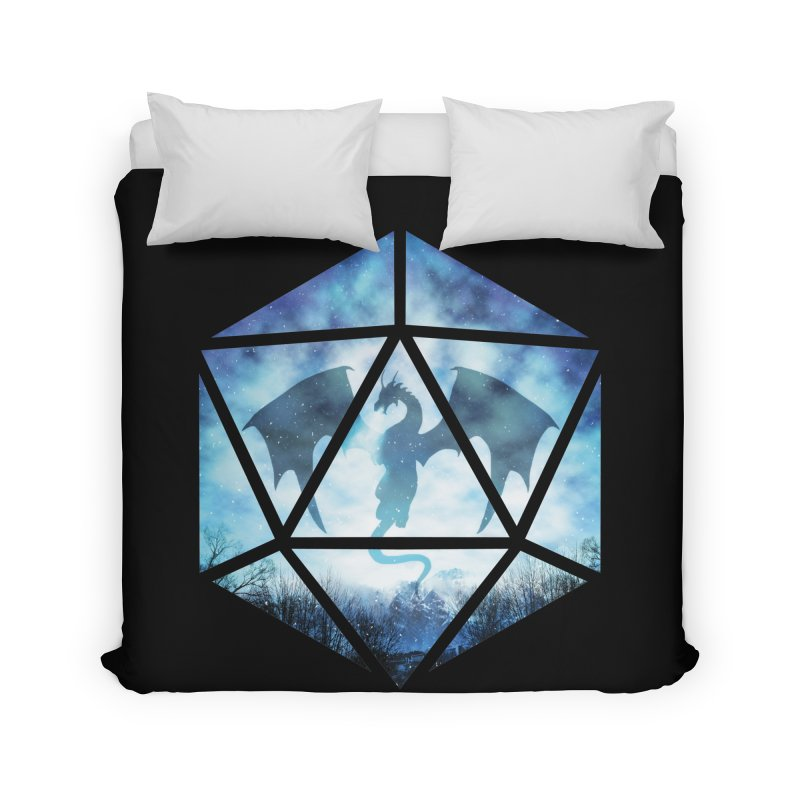 Blue Sky Ice Dragon D20 Home Duvet by maratusfunk's Shop