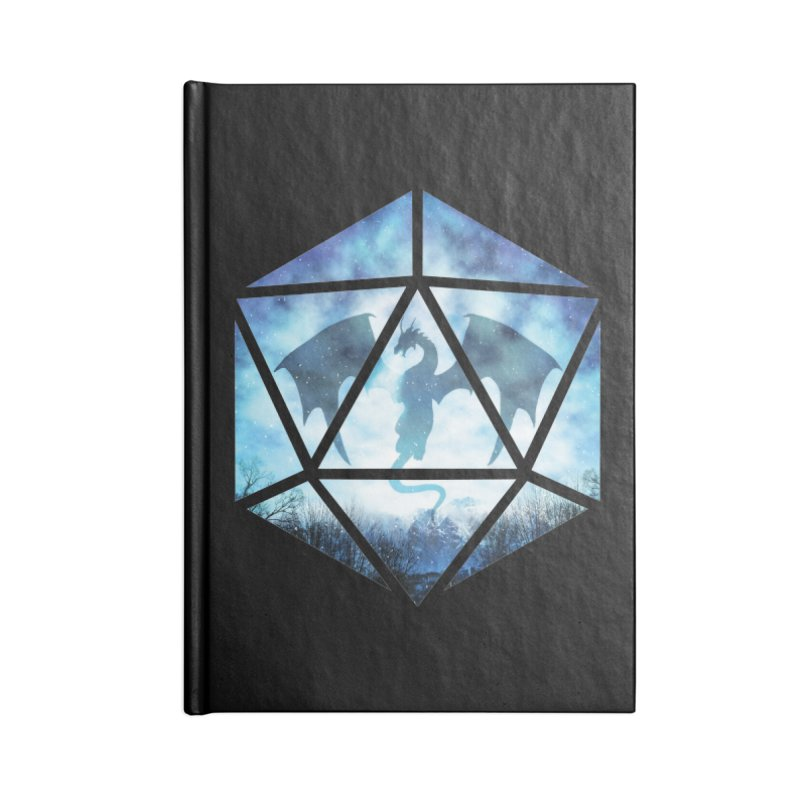 Blue Sky Ice Dragon D20 Accessories Lined Journal Notebook by maratusfunk's Shop