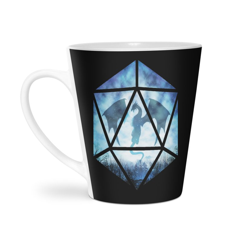 Blue Sky Ice Dragon D20 Accessories Latte Mug by maratusfunk's Shop