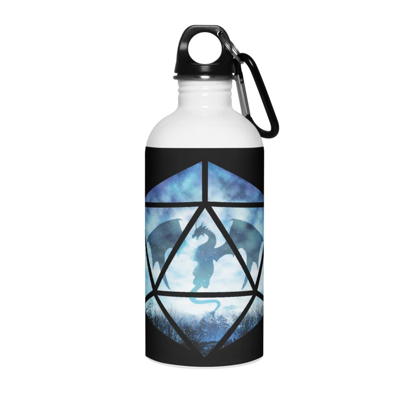 Blue Sky Ice Dragon D20 Accessories Water Bottle by maratusfunk's Shop