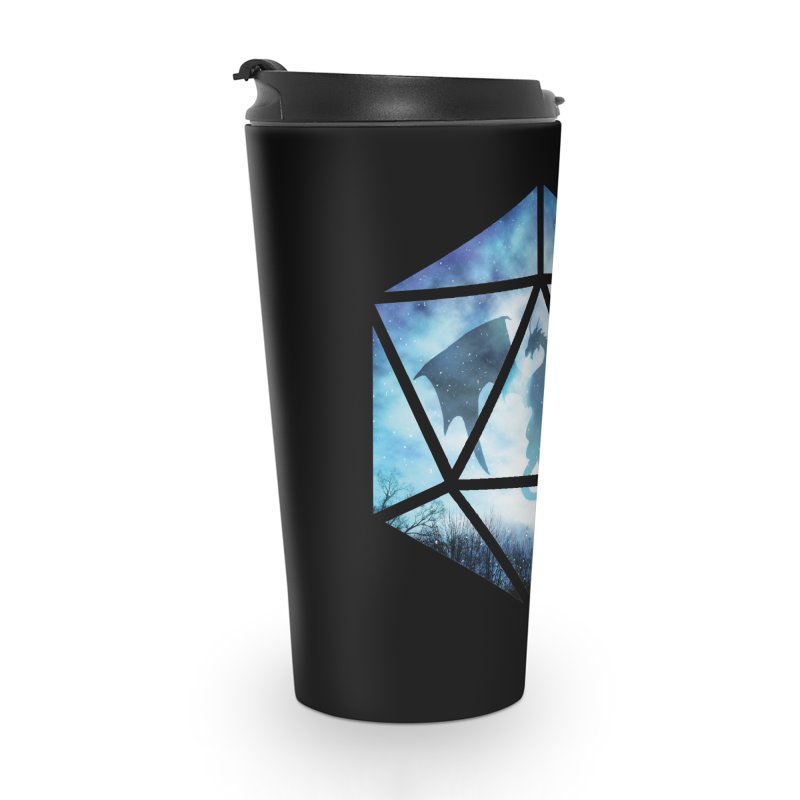 Blue Sky Ice Dragon D20 Accessories Travel Mug by maratusfunk's Shop