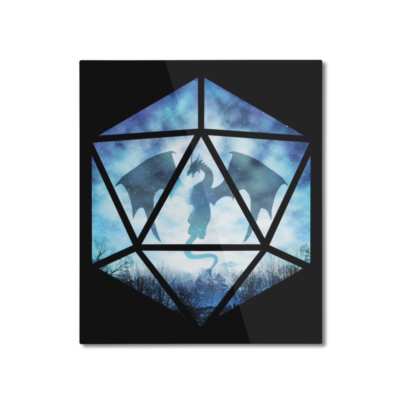 Blue Sky Ice Dragon D20 Home Mounted Aluminum Print by maratusfunk's Shop