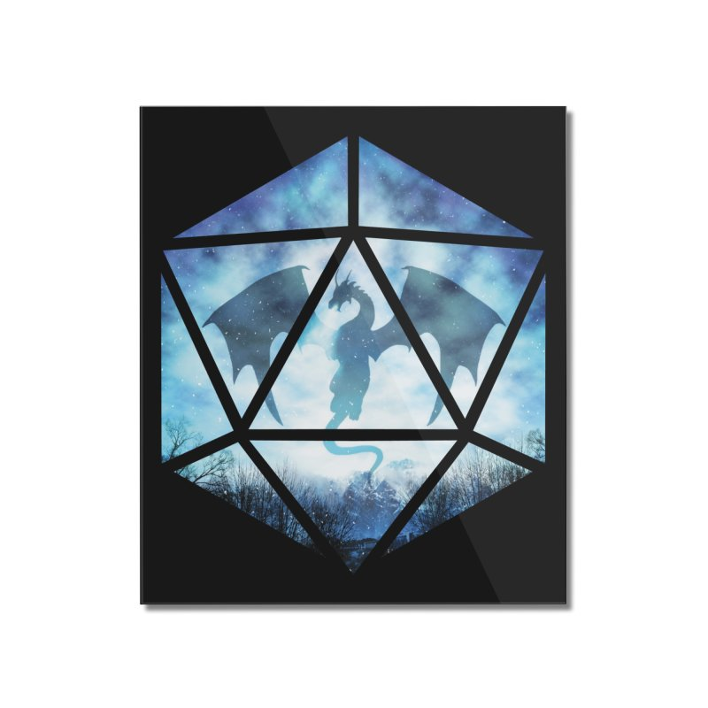 Blue Sky Ice Dragon D20 Home Mounted Acrylic Print by maratusfunk's Shop