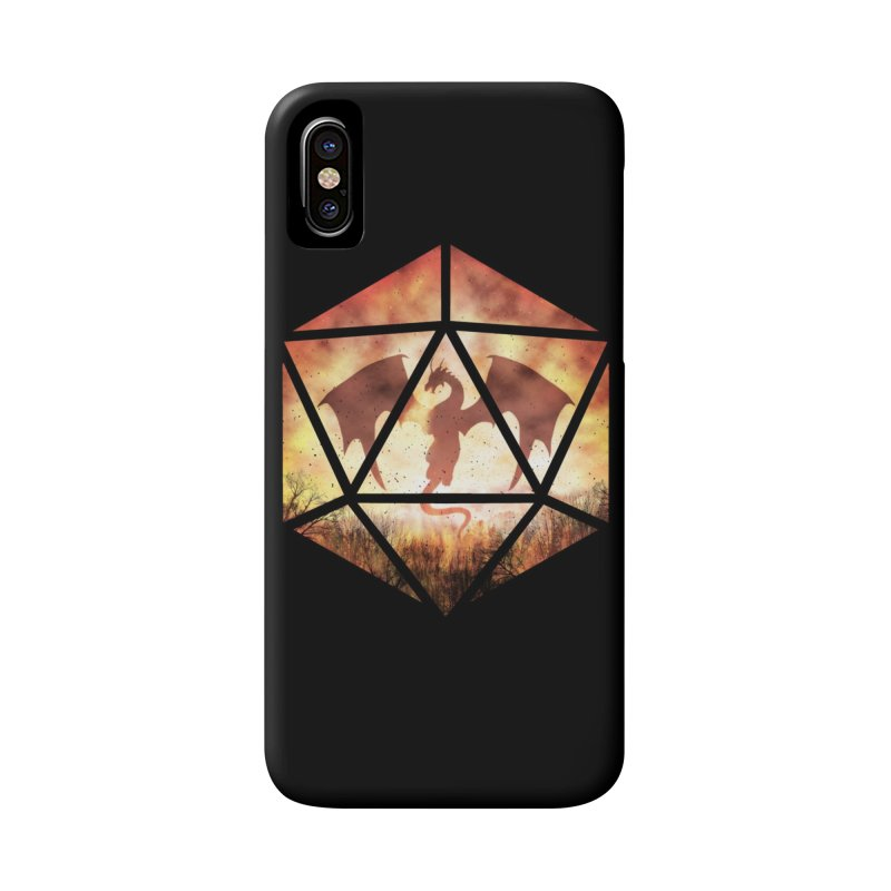 Fire Dragon D20 Accessories Phone Case by maratusfunk's Shop