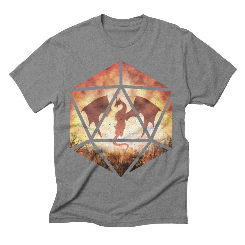 Fire Dragon D20 Men's T-Shirt by maratusfunk's Shop