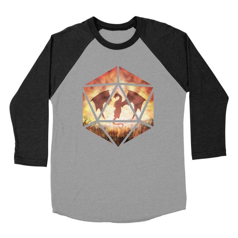 Fire Dragon D20 Men's Longsleeve T-Shirt by maratusfunk's Shop