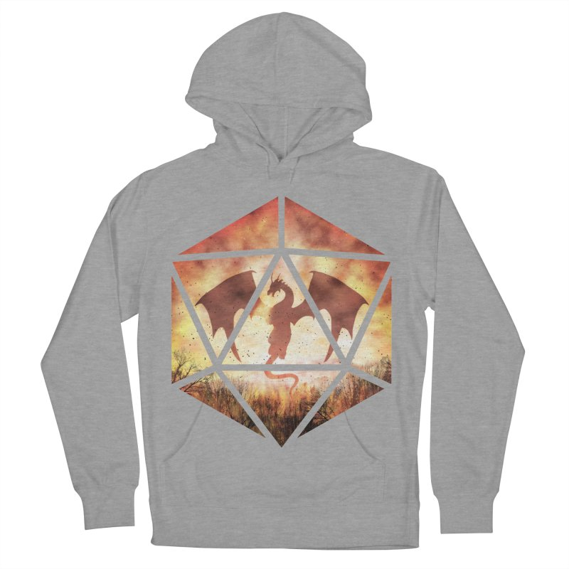 Fire Dragon D20 Men's French Terry Pullover Hoody by maratusfunk's Shop