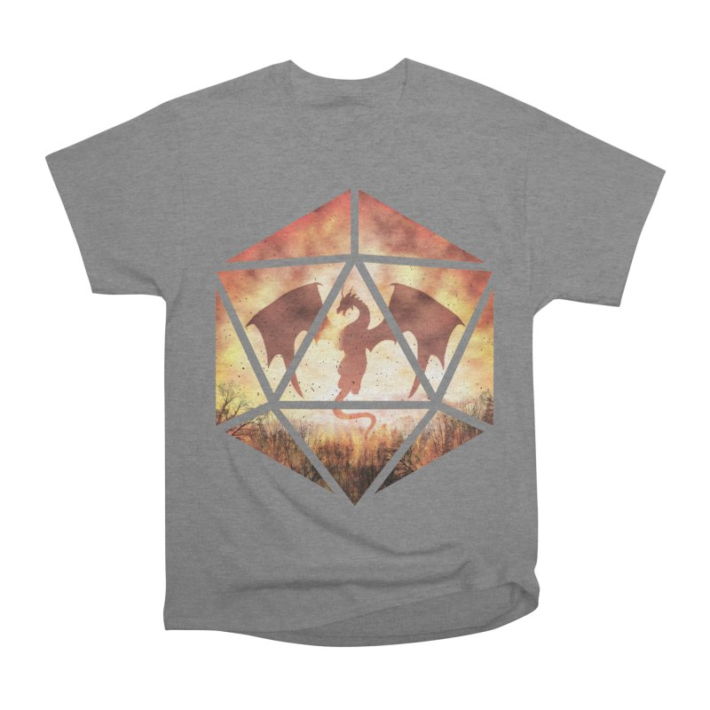 Fire Dragon D20 Women's Heavyweight Unisex T-Shirt by maratusfunk's Shop