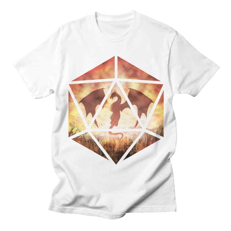 Fire Dragon D20 Men's Regular T-Shirt by maratusfunk's Shop