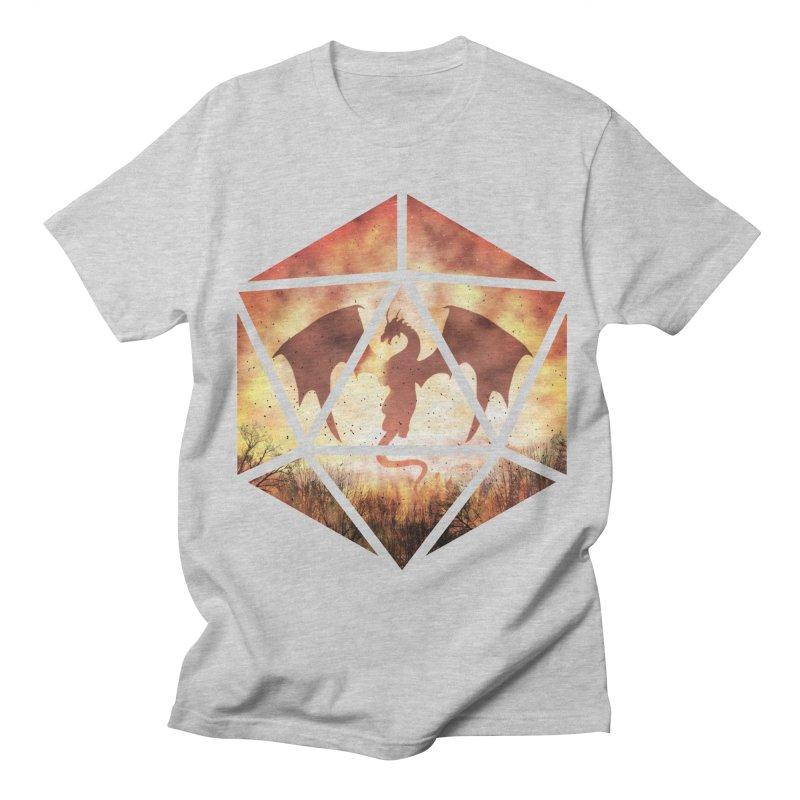 Fire Dragon D20 Men's Regular T-Shirt by maratusfunk's Shop