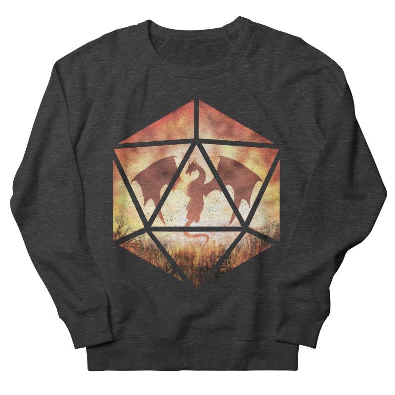 Fire Dragon D20 Women's French Terry Sweatshirt by maratusfunk's Shop