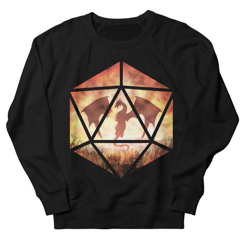 Fire Dragon D20 Men's French Terry Sweatshirt by maratusfunk's Shop