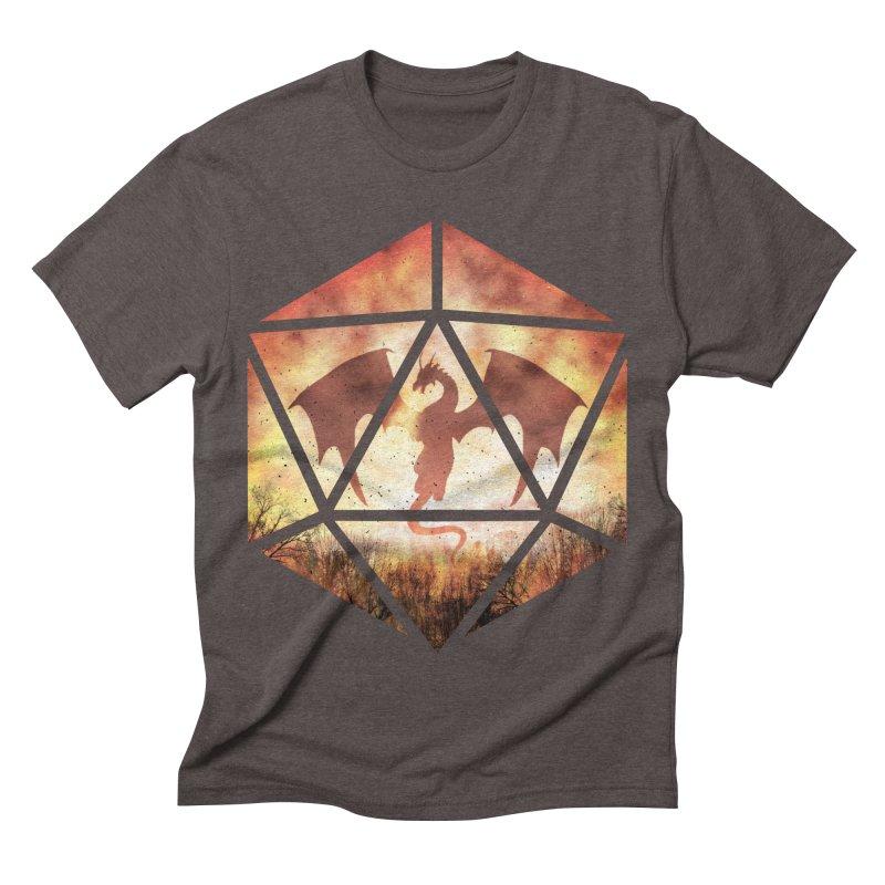 Fire Dragon D20 Men's Triblend T-Shirt by maratusfunk's Shop