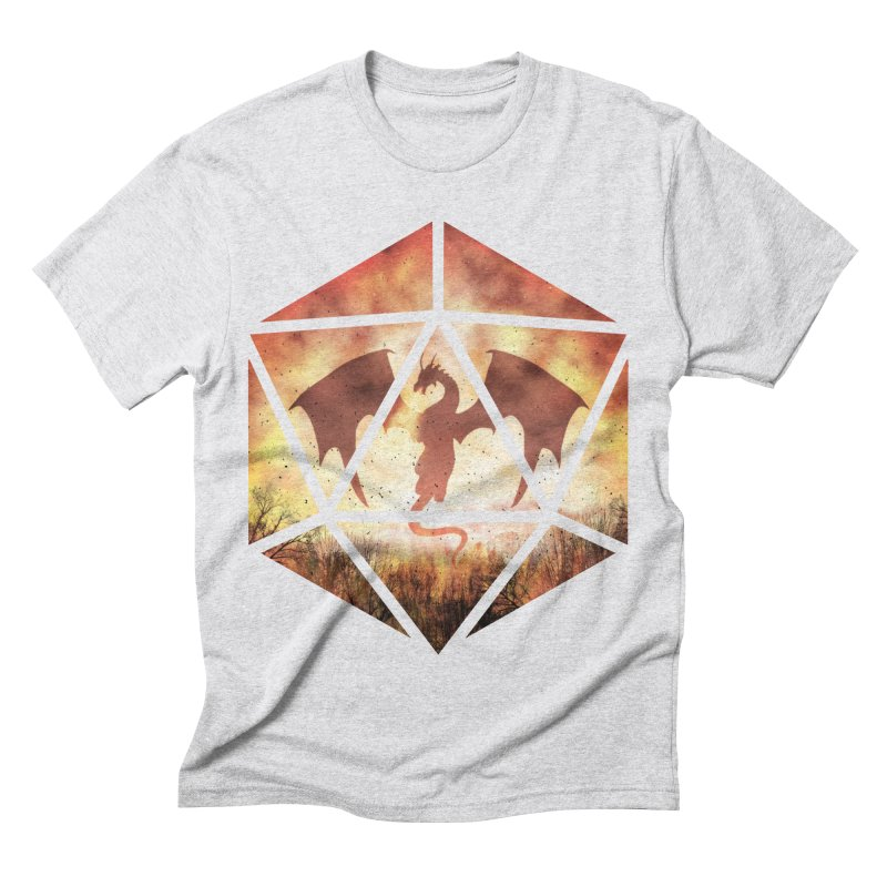 Fire Dragon D20 Men's Triblend T-Shirt by maratusfunk's Shop