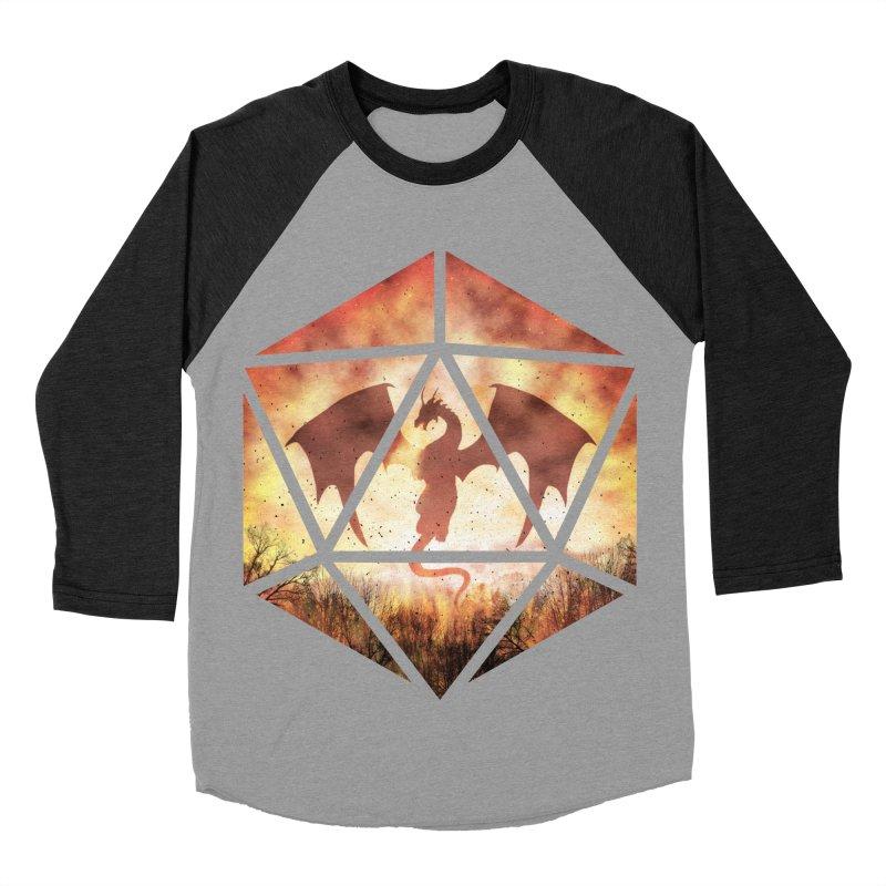 Fire Dragon D20 Women's Baseball Triblend Longsleeve T-Shirt by maratusfunk's Shop