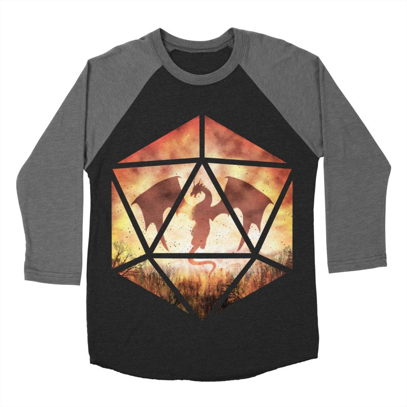 Fire Dragon D20 Men's Baseball Triblend Longsleeve T-Shirt by maratusfunk's Shop