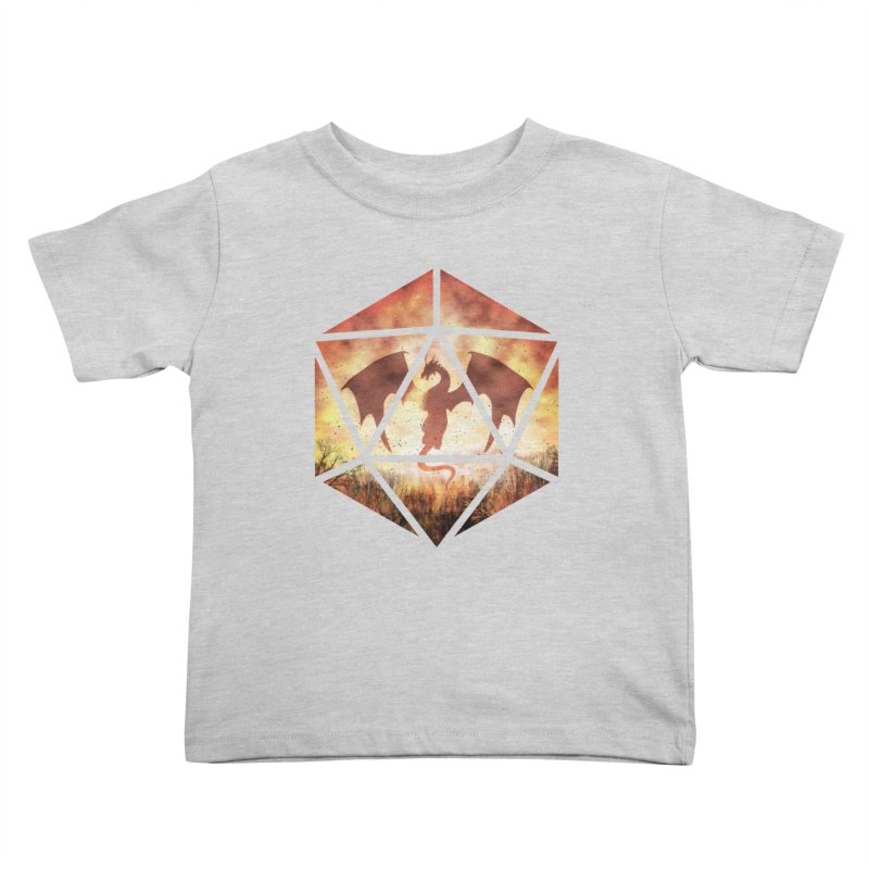Fire Dragon D20 Kids Toddler T-Shirt by maratusfunk's Shop