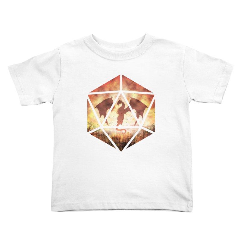 Fire Dragon D20 Kids Toddler T-Shirt by maratusfunk's Shop