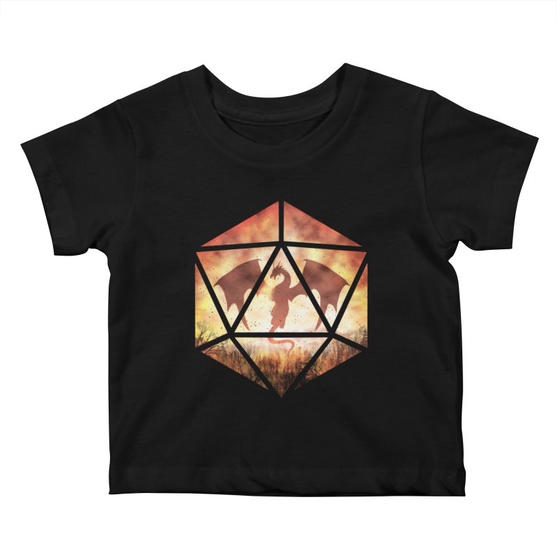 Fire Dragon D20 Kids Baby T-Shirt by maratusfunk's Shop